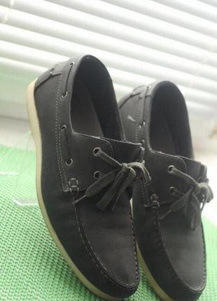 Мужские туфли, мокасины, топсайдеры 40-41р 26см по стельке Нат...