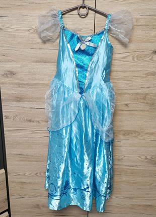 Детское платье золушки, принцессы, феи disney на 7-8 лет