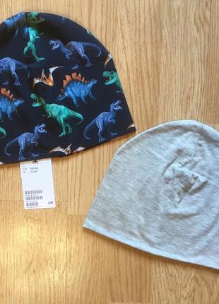 Деми шапка, шапочка для мальчика h&m, набор, р. 1,5-4, 92-104