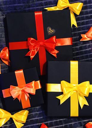 Подарочные двойные банты из ленты (оптом) 10 штук