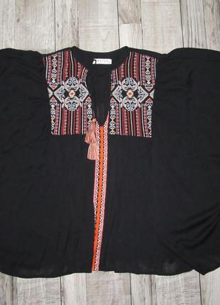Блуза с вышивкой m&s р.12