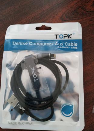 TOPK Магнитный кабель шнур зарядка / Type-C / iPhone