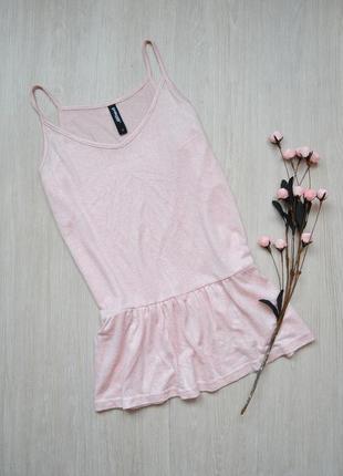 Нежно-розовая блузка с серебристым напылением page one