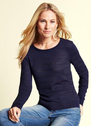 Легкий свитер пуловер подойдет на высокий рост tcm tchibo герм...