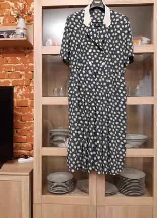 Двубортное платье рубашка большого размера
