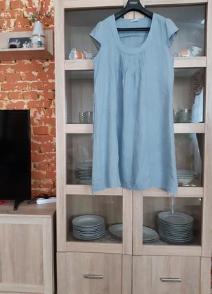 Очаровательное льняное платье большого размера италия