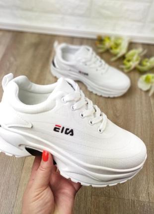 Новинка! белые кроссовки кроссы под fila