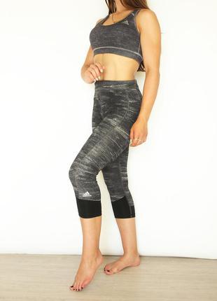 Комплект костюм для тренировок топ и короткие лосины для спорт...