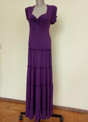 Длинное немецкое трикотажное платье