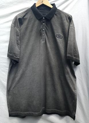 Стильная футболка поло графитового цвета engbers 54-56