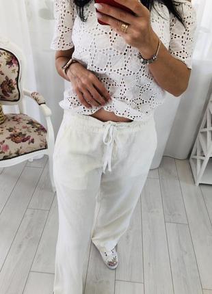 Льняные штаны брюки лен