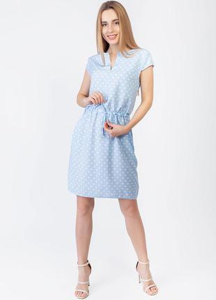 Платье на кулиске с v-образным вырезом