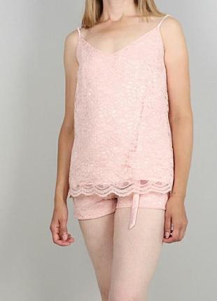 Пижама из кружева на шелковой подкладке