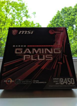 Материнська плата  MSI B 450M Gaming plus