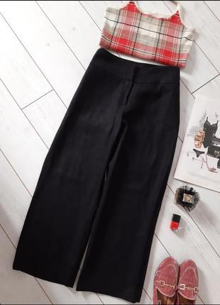 Базовые классика брюки из плотного льна