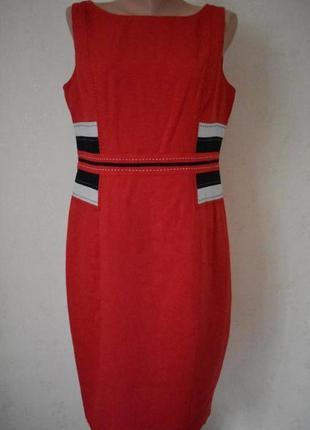 Льняное платье -футляр marks & spencer