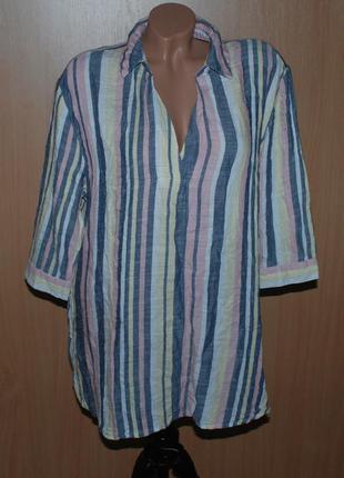 Блуза принтованая бренда nutmeg   /44%хлопок / удлиненная/