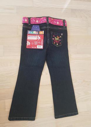 Фирменные джинсы германия качество  бабочки lupilu