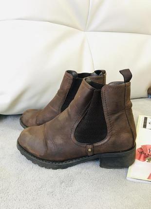 Винтажнаякожа ботинки челси  - акция 1+1=3 в подарок 🎁