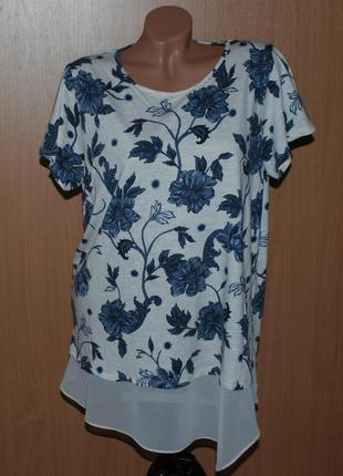 Блуза принтованая бренда  marks & spencer/ 51%хлопок /  /двух...