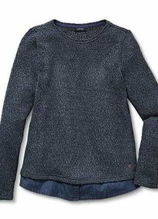 Джемпер свитер обманка tcm tchibo германия наш 50-52