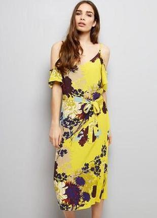Натуральное платье с принтом new look