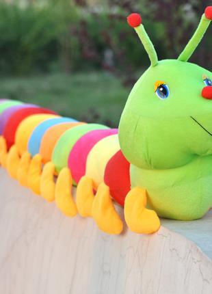 50/80 см красочная гусеница плюшевая игрушка подушка гусеница