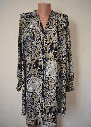 Платье-рубашка с принтом h&m