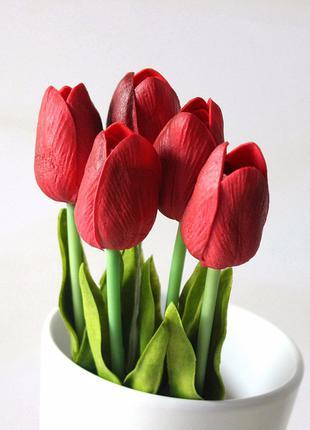 Искусственные цветы тюльпаны, подарок, свадеба