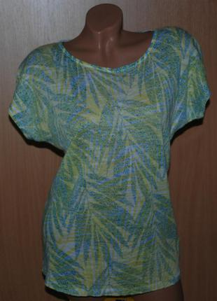 Блуза принтованая бренда marks & spencer / в желто-голубых ...