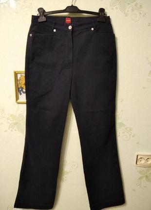 Темно синие котоновые брюки