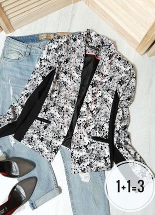 Miss selfridge стильный блейзер xs-s узор принт цветы пиджак ж...