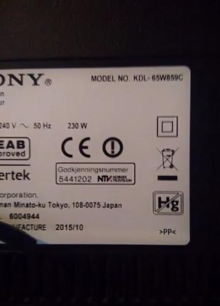 SONY  KDL-65W859C запчасти (212)