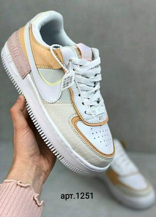 Кроссовки Nike Air force shadow whitу Grey Brown 36-41р.