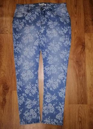 🌺🌺🌺стильные женские зауженные джинсы 14 р. peacocks🔥🔥🔥