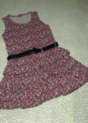 Платье с поясом 6-7 лет