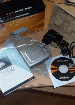Принт-сервер D-Link DP-301U Новый запечатанный в коробке