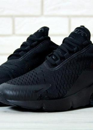 Nike air max 270 full black, мужские кроссовки найк черные