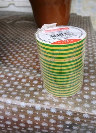 Изолента из самозатухающего ПВХ, желто-зеленая, E.NEXT