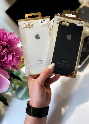 Чехол черный/белый iPhone 6/6s силиконовый
