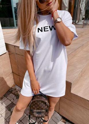 Платье-футболка new