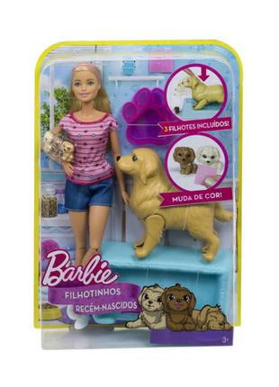 кукла барби Barbie newborn pups