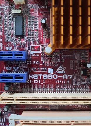 Материнка + проц (Biostar K8T890-A7 + AMD Athlon 64)