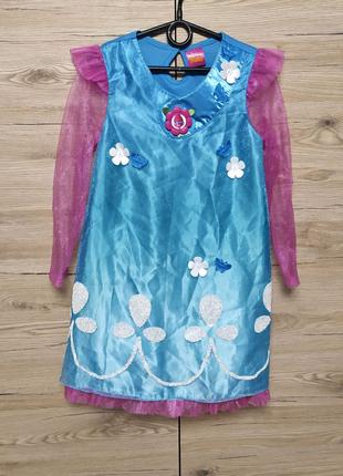 Детское платье розочки, троллей, тролихи на 7-8 лет