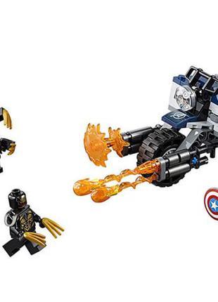 LEGO super heroes, лего капитан Америка: атака Аутрайдеров