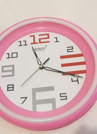Часы настенные розовые