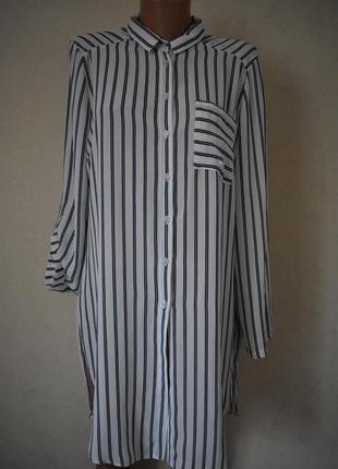 Легкое платье-рубашка в полоску peacocks