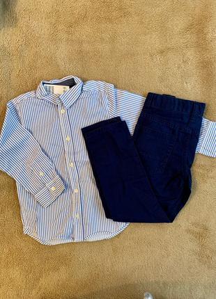 брюки, рубашка, костюм на мальчика, h&m