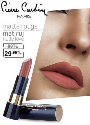 Pierre cardin matte rouge матовая губная помада - обнаженная л...