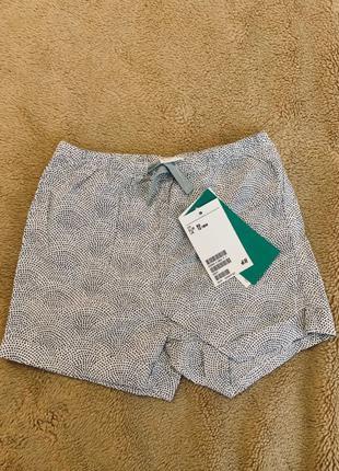 хлопковые шорты, новые 12-18 м, h&m